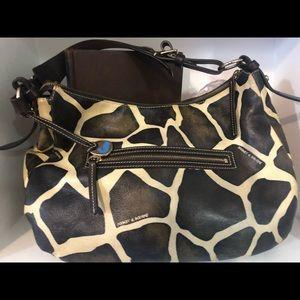 Dooney & Bourke Bags - DOONEY & BOURKE Med GIRAFFE PRINT Leather Hobo